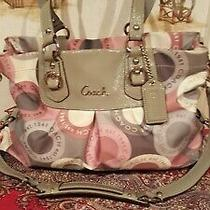 Authentic  Coach Opt Art Signature Multi-Colored Satchel Shoulder Large Handbag. Photo