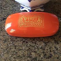 Authentic Coach Orange Poppy Sun Glasses Case Good Condition  Photo
