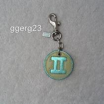 Authentic Coach Pale Green and Teal Leather Gemini Zodiac Charm  Euc Photo