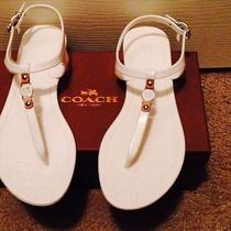 Authentic Coach Piccadilly Jelly Sandal Thongs Size 7 Us / 37 Euro White Photo