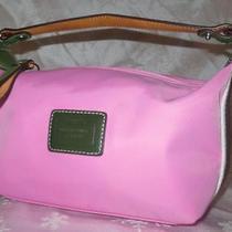 Authentic Coach Pink Side Stripes Small Nylon Baguette Pouch Purse Bag Cute Photo