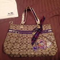 Authentic Coach Poppy Collection Large Tote Bag Photo