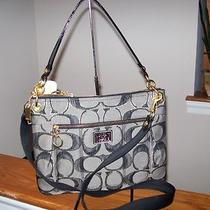 Authentic Coach Poppy Signature  Metallic  Hippie 18135 Shoulder Bag Nwt Photo