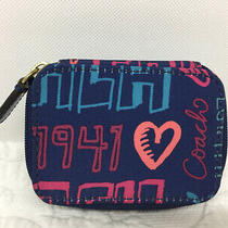 Authentic Coach Poppy Zippered Pill Case Bottles Not Included  Photo