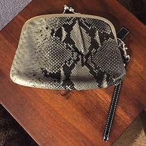 Authentic Coach Printed Python Leather Framed Wristlet Photo