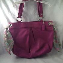 Authentic Coach Purple Leather Bag Photo