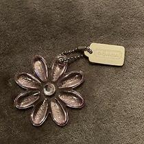 Authentic Coach Purse Fob Hang Tag White Hang Tag Pink Daisy Photo