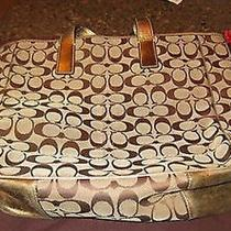 Authentic Coach Purse- Gold Photo