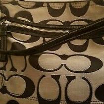 Authentic Coach Purse/handbag No. I1276-22456 Black/gray Photo