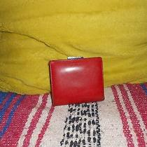 Authentic Coach Red Clip Wallet Photo