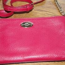 Authentic Coach Red Crossbody Purse Vg/excellent Condition Photo