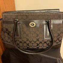 Authentic Coach Satchel Purse in Rich Brown Logo Fabric Photo