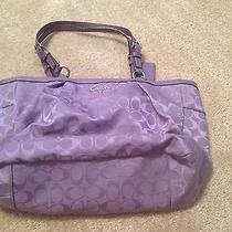 Authentic Coach Shoulder Bag in Limited Violet Color Photo