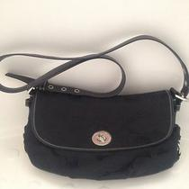 Authentic Coach Signature Black/black Handbag Photo