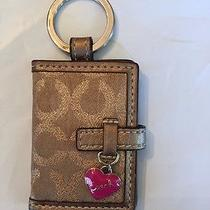 Authentic Coach Signature C Soho Buckle Photo Book Frame Key Fob Keyring/ Pink Photo