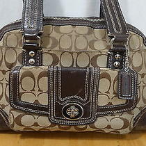 Authentic Coach Signature Hampton Dome Satchel Handbag Purse 13977 Photo