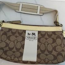 Authentic Coach Signature Heritage Leather Pvc Collection Hobo Purse Handbag Bag Photo