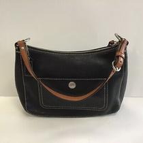 Authentic Coach Small/medium Shoulder Handbag Black Leather..gently Preowned Photo