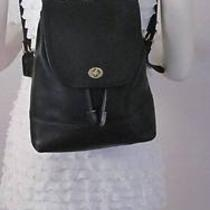 Authentic Coach Style No. 9791 Black Leather Backpack - Lk Photo