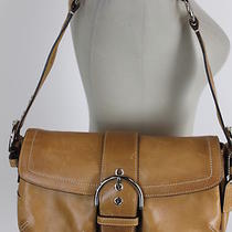 Authentic Coach Tan Leather Handbag Photo