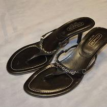 Authentic Coach Thong Sandals Shoes Size 9.5 B Photo
