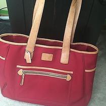 Authentic Coach Tote/shoulder Bag/diaper Bag X Large Red/tan Canvas/leather  Photo