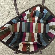 Authentic Coach Tote With Legacy Stripe  Photo