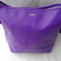 Authentic Coach Ultra Violet Legacy Leather Duffel 19889  Euc Photo