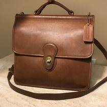 Authentic Coach Vintage Brown Willis Leather Messenger Bag  Photo