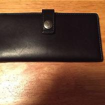 Authentic Coach Wallet/ck Book Holder All Leather Black Photo