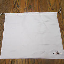 Authentic Coach White Duster Protector Storage Drawstring Bag  Photo