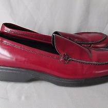 Authentic Coach Women's Red Leather Loafers Sz 7 1/2 Photo