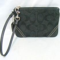 Authentic Coach Wristlet Wallet Black Photo
