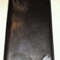 Authentic Coco Chanel Bifold Long Wallet Patent Leather - Black Photo
