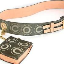 Authentic Coco Chanel Pony Hair Leather Belt Waist Pouch Photo