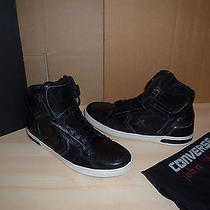 Authentic Converse John Varvatos Weapon Black Leather Mens Shoes Sneakers 10.5 Photo