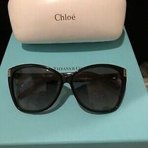Authentic Designer Chloe Sunglasses Black Frame W/ Case Photo