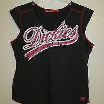 Authentic Dickies Women's Top  Black & Red  Medium  Free Shipping Photo