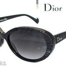 Authentic Dior Taffetas 3 Black Oval Sunglass - 807hd New Photo