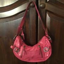 Authentic Dkny Pink Leather Hobo Shoulder Bag Purse Photo