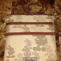 Authentic Dooney & Bourke Disney Tonal Mickey Crossbody Triple Zip Euc Photo