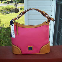 Authentic Dooney & Bourke Pebbled  Leather Hot Pink  Hobo Handbag Nwt Photo
