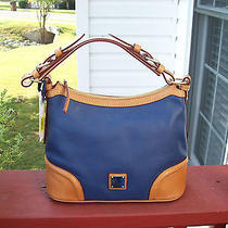 Authentic Dooney & Bourke Pebbled  Leather Ocean Navy Hobo Handbag Nwt Photo