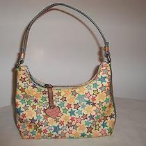 Authentic Dooney & Bourke Purse Small Bag Multi-Color stars.yellowblue Orange  Photo