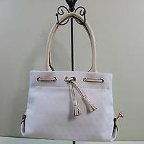 Authentic Dooney & Bourke Signaturetassle Tote Bag Bone White & Natural Leather  Photo