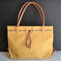 Authentic Dooney & Bourke Yellow Tote Purse Bag -Signature Db Fabric Photo