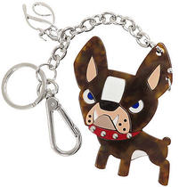 Authentic Dsquared 2 Ciro Dog Metal Chain Key Ring Bag Charm Kr6001 Gr 1562057 Photo