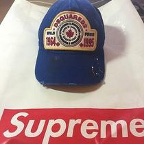 Authentic Dsquared2 Dirty Oil Painted Blue Cap Photo