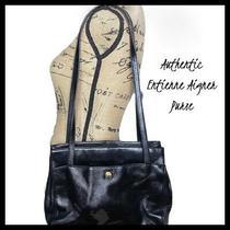 Authentic Etienne Aigner Black Leather Classic Shoulder Purse- Excellent Shape Photo