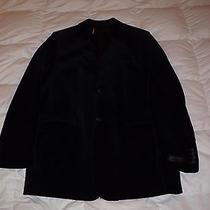 Authentic Express Black Velvet Single Breast Mens Blazer Jacket Size 42l Photo